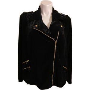 INC Velvet Racer Jacket